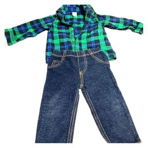 Carters 12m plaid outfit